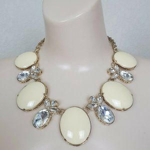 Banana Republic Starlet Necklace Oval Cream Clear